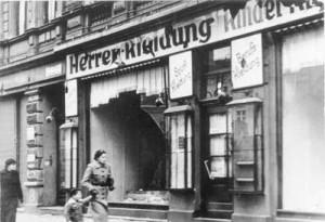 Zerstörtes jüdisches Geschäft am 9.11.1938 in Magdeburg (Foto: H. Friedrich)