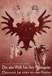 John Heartfield »Die alte Welt hat ihre Pleitegeier, Österreich hat einen mit zwei Köpfen«, 1934