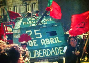 Demonstration in Porto 1983 zum Gedenktag des 25 de Abril