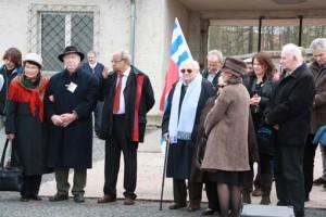 v.l. Margot Pappenheim, Günter Pappenheim, Gert Schramm, Floreál Barrier, 2.v.r. Wassili Nussbaum