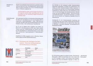 Seiten zur VVN im bayerischen Verfassungsschutzbericht für 2013