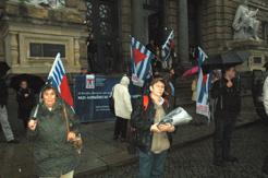 Vor dem Gericht in Dresden.
