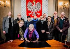 Treffen der Angehörigen mit Staatsanwalt Janusz Jagiełłowicz zum Stand der Ermittlungen wegen Kriegsverbrechen. Foto: Andreas Domma