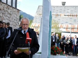 Peter Gstettner bei seiner Ansprache.