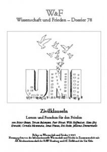 Die Quartalszeitschrift W&F wird von einem Trägerkreis aus friedenspolitischen Initiativen und Instituten schon seit 1983 herausgegeben. Die Herausgeber sehen die W&F als Scharnier zwischen Friedensforschung, Friedensbewegung und Öffentlichkeit, um gemeinsam Entwicklungen in den Themenbereichen Frieden, Abrüstung, Sicherheit und Konflikt interdisziplinär zu diskutieren. Das aktuelle Dossier 78 ist auch auf der Webseite www.wissenschaft-und-frieden.de nachzulesen.