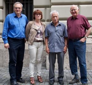 V.l.n.r.: Florian Ritter, Linda Schneider, Ernst Grube, Dr. Klaus Hahnzog