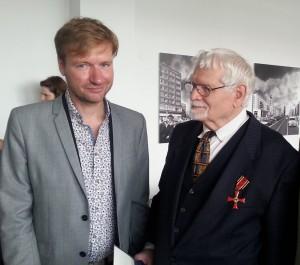 Reinhard Strecker mit Tim Renner, Kulturstaatssekretär von Berlin.