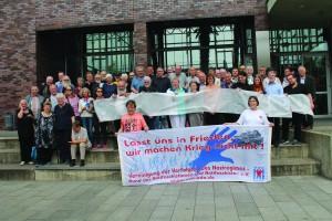 Gruppenbild einiger Teilnehmer des VVN-BdA-Bundeskongresses in Bochum Ende Mai 2016. Foto: Rosita Mergen