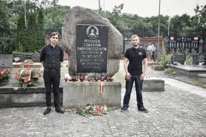 Das Foto zeigt die beiden Autoren bei der Gedenkveranstaltung am 16. Juli 2016
