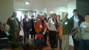 Viele Unterstützer begleiteten Silvia Gingold zum Prozess #Foto Norbert Birkwald