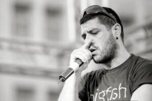 "Pavlos Fyssas (2011), ermordet von Anhängern der ""Chryssi Avgi"". Foto: John D. Carnessiotis"