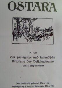Die Ostara aus Wien verstand sich als »rassenwirtschaftliche Zeitschrift«