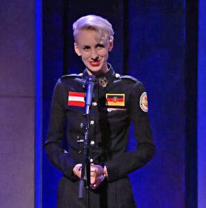 Lisa Eckart in der ARD-Sendung von Dieter Nuhr am 1. Oktober 2020
