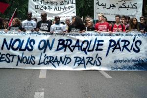 Demonstration etwa zwei Jahre nach dem Tod von Adama Traoré in Paris am 26. Mai  2018.