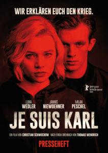 »Je suis Karl«, 126 Minuten, Pandora Filmverleih, Regisseur: Christian Schwochow, Drehbuchautor: Thomas Wendrich. Voraussichtlich ab 16. September im Kino
